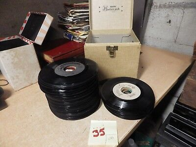 Lot Of 100 Vintage 45 Rpm Records Assorted Lot Rock Country Oldies With Case #35