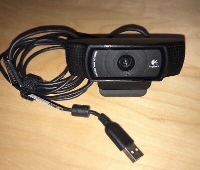 Carl Zeiss Tessar Logitech HD Pro Webcam 1080p Web camera with FREE P&P.