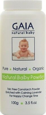 Gaia Baby Cornstarch Powder 100g - | NATURAL + ORGANIC INGREDIENTS | 15% off 2+