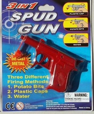 TWO SPUD GUN 3 in 1  DICAST 2 x  RED FREE POST AUST WIDE