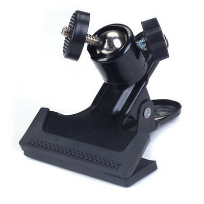 1 x Metal Photo Studio Flash Spring Clamp Clip Mount With Ball Head--Black Y6S4