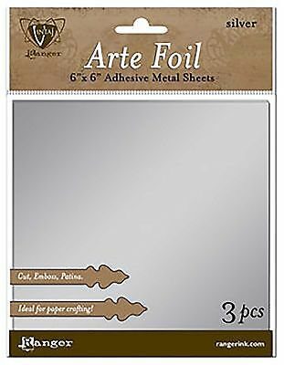 Vintaj Arte Foil Sheets 3pc/pack 6x6 inches in Silver
