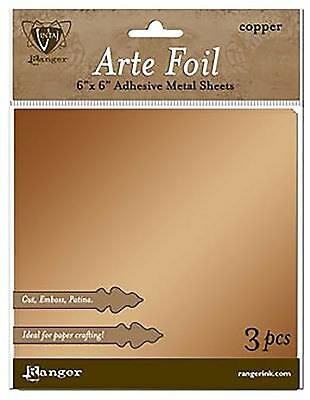 Vintaj Arte Foil Sheets 3pc/pack 6x6 inches in Copper