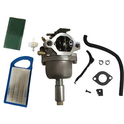 For Briggs & Stratton 792768 Carburetor Carb B&S Air Filter & Fuel Filter Kit