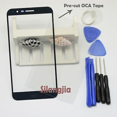 Black Front Screen Glass Panel Lens Replace For LG Stylo 3 Plus TP450+OCA Tape