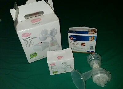 unimom electric breast pump converts to manual pump plus extras