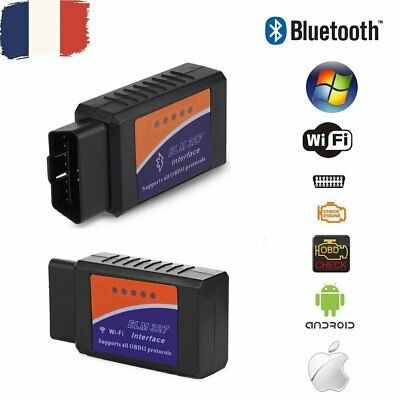 ELM327 WiFi Bluetooth OBD2 Interface Diagnostique Scanner iOS Android Windows