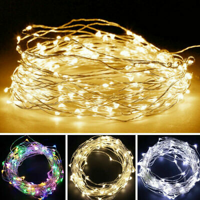 2/5M LED String Copper Wire Battery Powered Fairy Lights Xmas Party Warm White