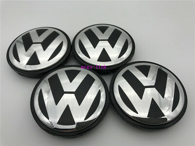 4 PCS 70mm Wheel Center Hub Caps Cover Badge Emblem For VW VOLSWAGEN TOUAREG