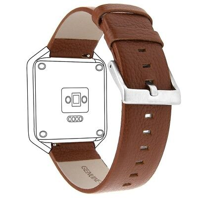 (Brown-Small) - SnowCinda Acessory Replacement Bands for Fitbit Blaze Smart