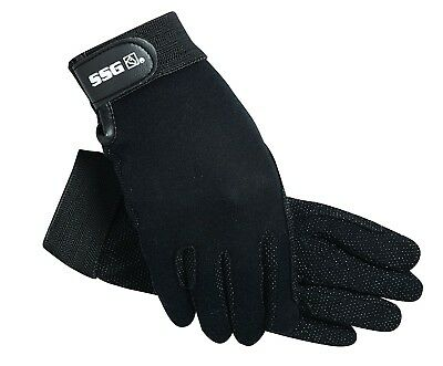 (6/S, Navy) - SSG Gripper Riding Gloves Navy 6/S. Shipping Included