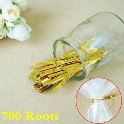 8cm Metallic Twist Ties Wire For Cake Pops Sealing Cello Bags Lollipop Pack Lot