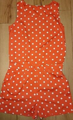Next Girls Playsuit Age 14 Red Spotty Summer Holiday Shorts All in 1 Polka Dot