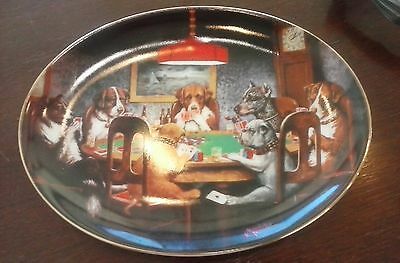 """Collectible Ace In The Hole  Plate 8 1/2"""" Oval Limited Edition Franklin Mint"""