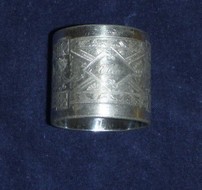 Silver Plated Victorian Napkin Ring Engraved Ella