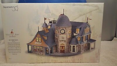 """Dept 56 # 53301 Seasons Bay """"first Edition"""" Bay Street Shops Set Of 2 Boxed"""