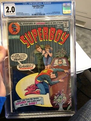 Superboy #169 (Oct 1970, DC) Graded 2.0 by CGC