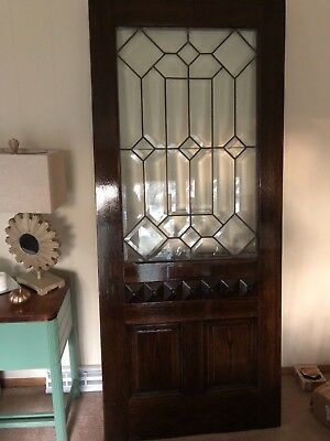 Antique Victorian Entryway Door