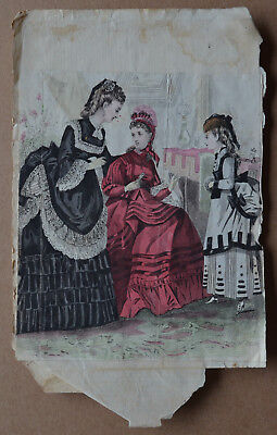 Scrapbooking picture VICTORIAN LADIES fashion/costume/dress/hairstyles
