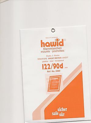 HAWID MOUNTS 122x 90mm CLEAR pack of 5