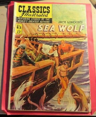 Classic Illustrated #85 Sea Wolf Golden Age First Edition (1951)  CB356