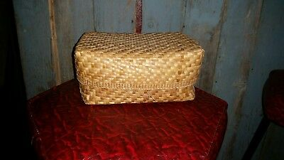 Basket W/ Lid - Native American Indian - Hand Made