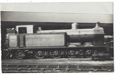 GNR Great Northern Railway Engine #125, RP Postcard by Locomotive Pub Co, Unused