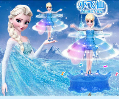 Princess Flying Fairy Elsa Fairy Flutterbye Girls Doll Xmas Gift Interactive Toy
