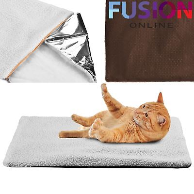 Self Heating Pet Blanket Pad Soft Washable Warm Ideal For Cat/dog Bed Medium