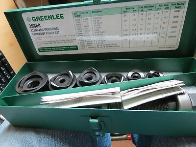 Greenlee 39860 Standard Industrial Knockout Punch Set