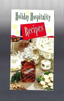 Vintage collectible 1945 OLD FITZGERALD BOURBON Christmas recipe booklet guide