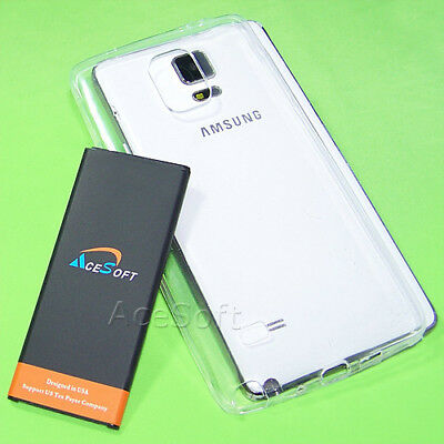 New Clear Slim Soft TPU Case 5470 mAh Battery for Samsung Galaxy Note 4 SM-N910T