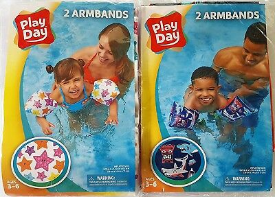 Play Day Swimming Inflatable Water Wings - His & Hers Combo (2) Pack!