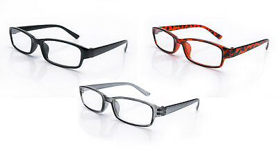 Reading Glasses 3 Mix Packs Mens Womens UV Reader Trendy Designer Spring Geek
