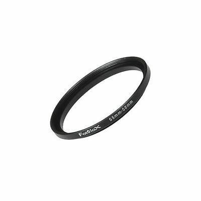 Fotodiox Metal Step Up Ring Filter Adapter Anodized Black Aluminum 55mm-58mm ...