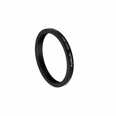 Fotodiox Metal Step Down Ring Filter Adapter Anodized Black Aluminum 55mm-49m...