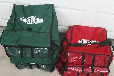 8 Papa Johns Pizza Insulated Hot Pizza Delivery Large Bag Carrying Case Tote