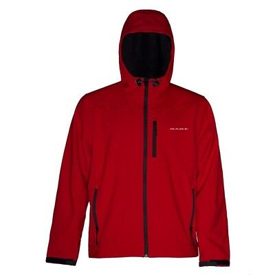 (Medium, Red) - Grundens Gauge Midway Softshell Jacket. Delivery is Free