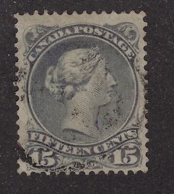 CANADA #30 15c    LARGE QUEEN ISSUE VG-F