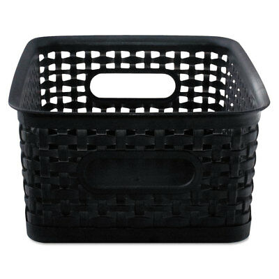 Advantus Weave Bins 9 7/8 x 7 3/8 x 4 Plastic Black 3 Bins 40326