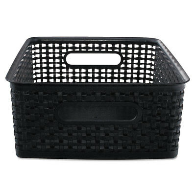Advantus Weave Bins 13 7/8 x 10 1/2 x 4 3/4 Plastic Black 2 Bins 40327