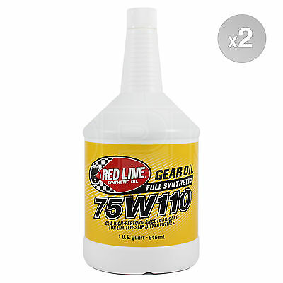 RED LINE Synthetic Gear Oil 75W-110 High Performance GL5 2 x 1 US Quart
