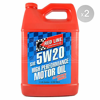 RED LINE High Performance Synthetic Motor Oil 5W-20 2 x 1 US Gallon 7.56 Litres