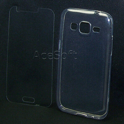 Premium Screen Protector Clear Soft Case for Samsung Galaxy Prevail LTE SM-G360P