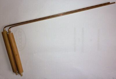 BRONZE DOWSING RODS.With the warmth and comfort of  bamboo swivel handles.