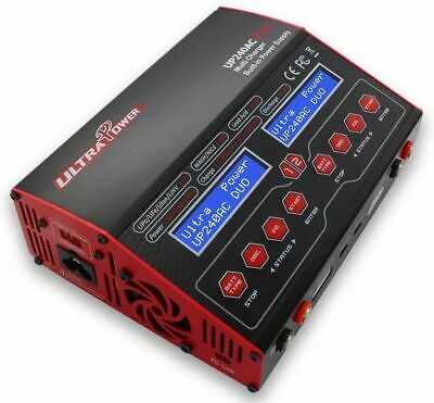 Ultra Power UP240AC DUO LiPo/NiMh Ladegerät 20A/12A & 240Watt NEW VERSION