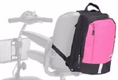 Simplantex Wheelchair/Mobility Scooter Mini Rucksack - Black/Hot Pink