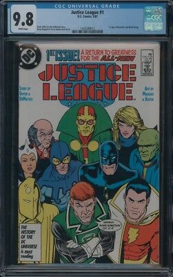 Justice League (1987) #1 Cgc 9.8 Nm/mt Wp 1St App Of Maxwell Lord