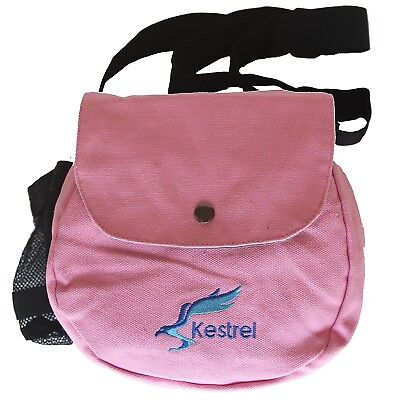 (Pink) - Kestrel Disc Golf Bag | Fits 6-10 Discs + Bottle | For Beginner and