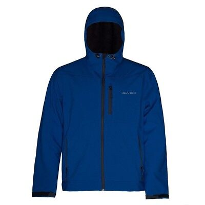 (Medium, Blue) - Grundens Gauge Midway Softshell Jacket. Free Delivery